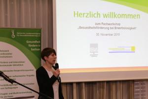 Anne Müller eröffnet den Fachworkshop©SLfG