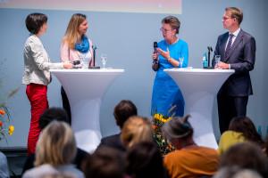 Gesprächsrunde Eileen Hornbostel (SLfG), Nicole Poch (SMK), Helma Orosz (SLfG) und Martin Strunden (SMS) v. l. n. r.©André Wirsig im Auftrag der SLfG