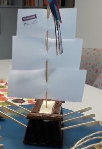 Zur feierlichen Übergabe wurde sogar ein Kuchen in Form eines Segelschiffes kreiiert©SLfG