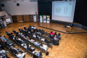 """Einleitender Vortrag """"Gesundheit im Betrieb"""", Dr. Ingo Weinreich, Institut für Gesundheit und Management Leipzig©Judith Heimann"""