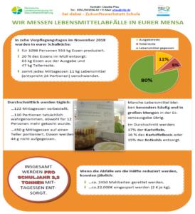Plakat: Auswertung der Messung am Martin-Luther-Gymnasium Hartha©SLfG