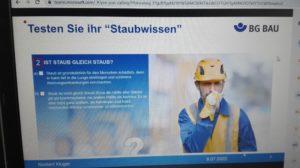 Online-Seminar Staubschutz